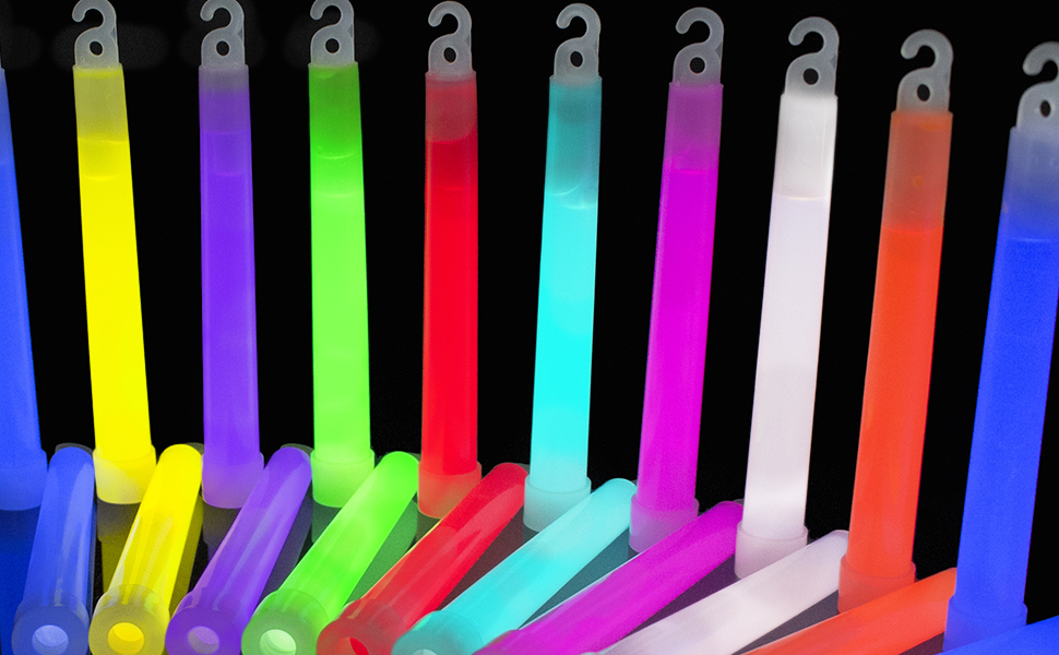 Glo Sticks Snap and Shake Light 2 pack green and orange or yellow and blue