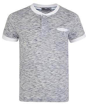 07fc9f973 LOTMART Boys Henley Shirt White Colour Combi Placket Top Kids Pocket Marl T- Shirt
