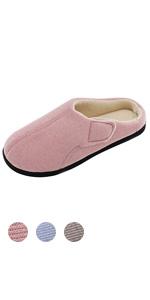 9bfd99096 Men's Wool-Like Fleece Clog Slippers · Ladies' Comfy Wool-Like Plush Memory  Foam Slippers · Ladies' Velvet Memory Foam Slippers with HOOK&LOOP ...
