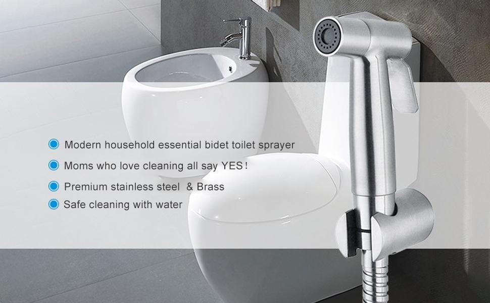 Bathroom Water Sprayer Bathroom Abs Chrome Bidet Sprayer