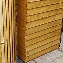 7x3 Wooden Overlap Bike Store Double Door Apex Roof Osb