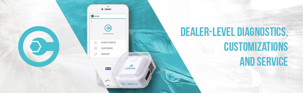 Carista OBD2 Bluetooth Adapter, Scanner and App with Dealer Level Technology