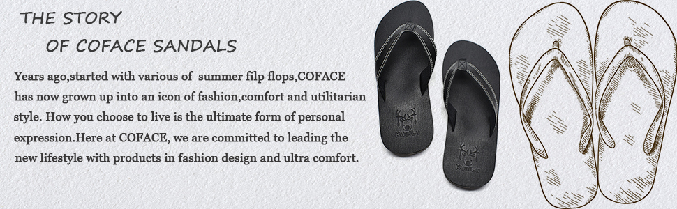 6db314308 COFACE Men s Yoga Mat Flip Flops Leather Thong Sandals with Arch ...
