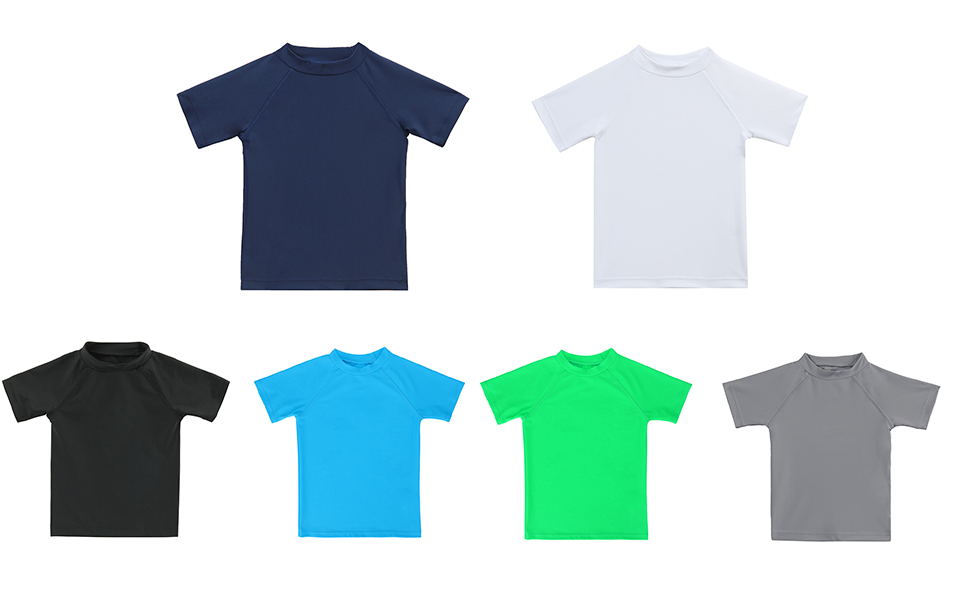 LACOFIA Camiseta de baño de Manga Corta para niños Traje de baño niño con protección Solar Secado rapido