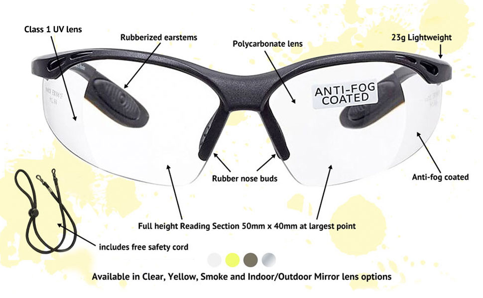 026f902760 voltX  Constructor  SAFETY READERS (Clear +2.0 Dioptre) Full Lens ...