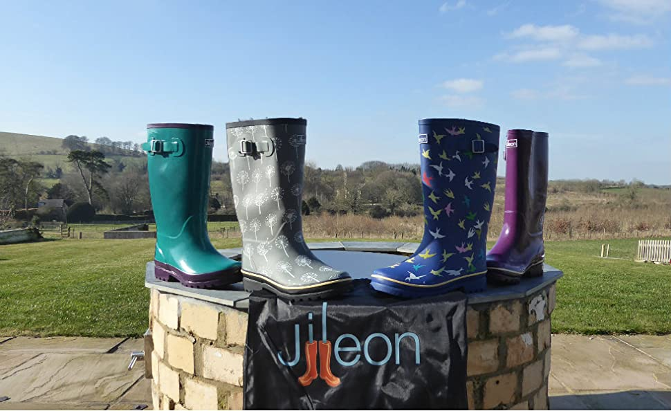 0f39a89191be Jileon Wide Calf Wellies fit up to 45cm Calves - Wide in Foot and ...