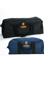 Rugged Tools Tool Bag Combo Includes 1 Small 1 Medium Toolbag Organizer Tote Bags For Electrician Plumbing Gardening Hvac More Amazon Co Uk Diy Tools