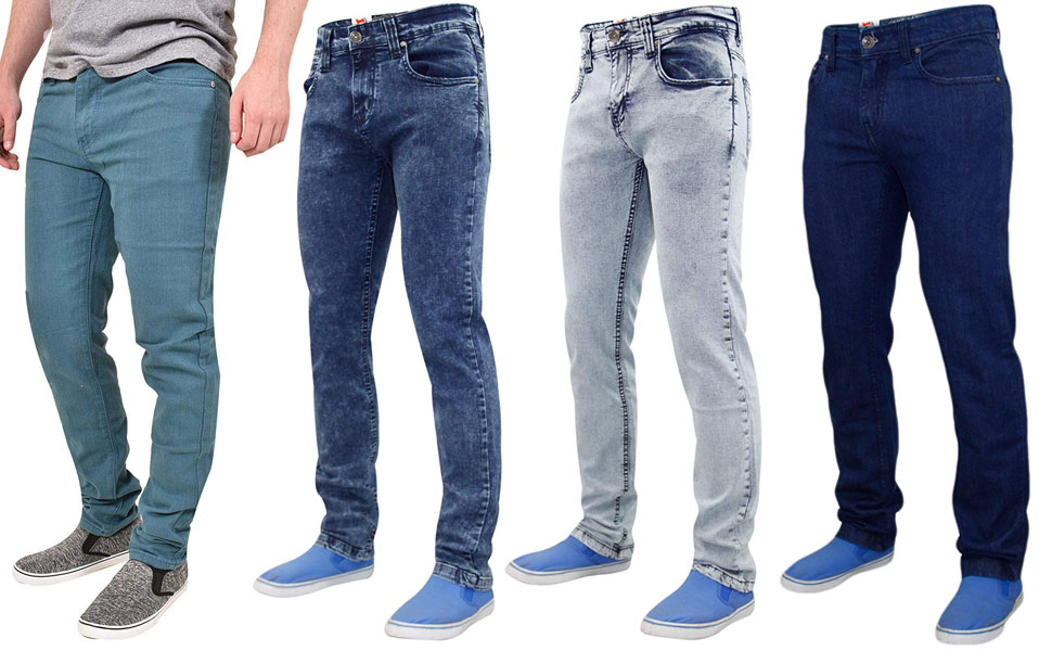 Clothing, Shoes & Accessories Jeans 2 Pairs 28 Inch Waist Mens Next Skinny Blue Denim Jeans Clear And Distinctive