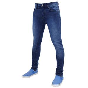 Mens True Face Denim Jeans Dark Mid Wash