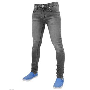 Mens True Face Denim Jeans Grey
