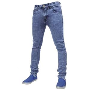 Mens True Face Denim Jeans Mid Blue