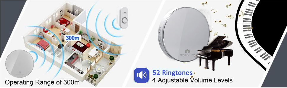 doorbells smart camera ring wireless battery chime alarm sensor buzzer ring cordless plugin doorbell