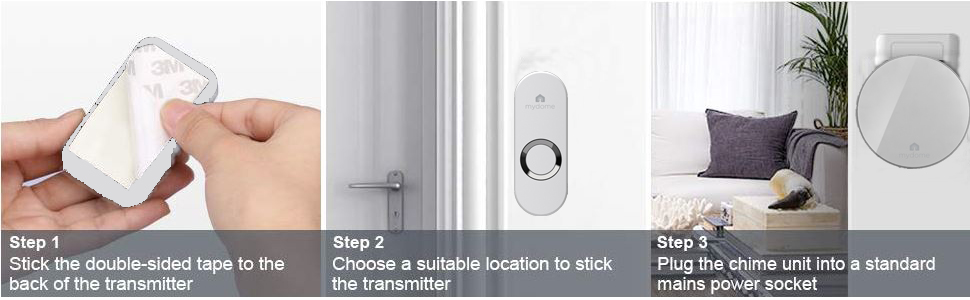 doorbell doorbells ring chime alarm sensor smart camera buzzer cordless plugin wireless battery