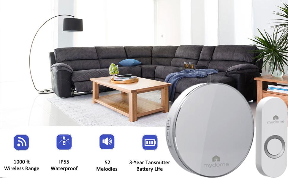 doorbell ring chime alarm sensor smart camera buzzer ring cordless plugin doorbells wireless battery