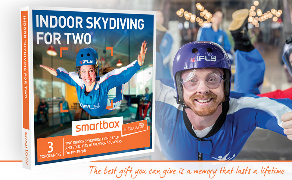 buyagift indoor skydiving for two gift experiences two 1 minute flights each at the ifly venue. Black Bedroom Furniture Sets. Home Design Ideas
