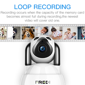 Wireless Security Camera With Loop Recording Function!