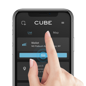 find, ping, track, ring, cube tracker, cube pro, app