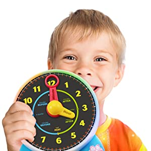 BEST LEARNING Learning Clock - Educational Talking Learn to Tell Time  Light-Up Toy with Quiz and Sleep Mode Lullaby Music for Toddlers Kids