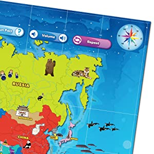 Map Of Russia For Kids.Best Learning I Poster My World Interactive Map Educational