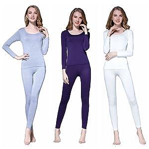 02cb642bfba3f Vinconie Women Thermal Underwear Set Base Layer Top & Leggings ...
