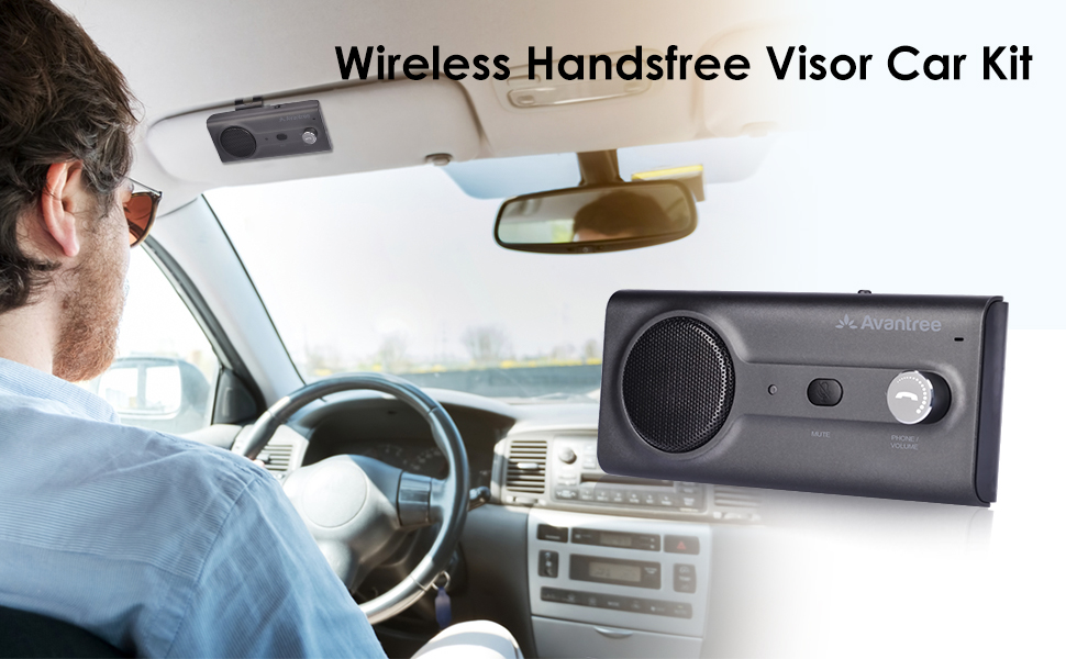 Connects with Siri /& Google... Avantree CK11 NEW Bluetooth Hands Free Car Kit