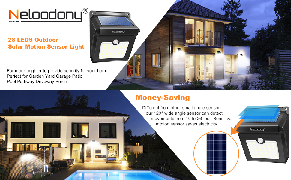 superb exterior house lights 4. ☆Neloodony 28LEDS SUPER BRIGHT OUTDOOR SOLAR LIGHTS 4-PACK☆ Superb Exterior House Lights 4 S