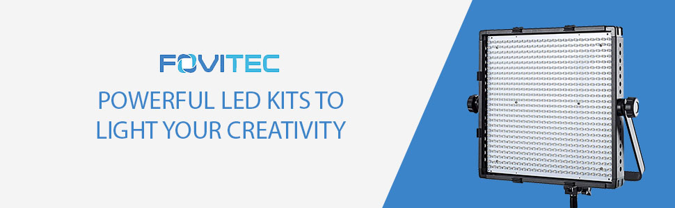 Led panel with power led kits to light your creativty in writing and a fovitec logo