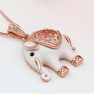 Kemstone rose gold elephant pendant necklace women jewelry15177 rose gold elephant pendant necklace aloadofball Choice Image