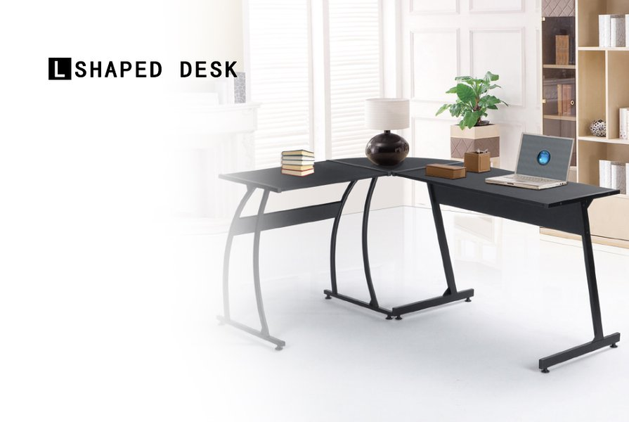l shaped office table. Computer Office Desk Large L-Shaped Wood Corner : L Shaped Table E