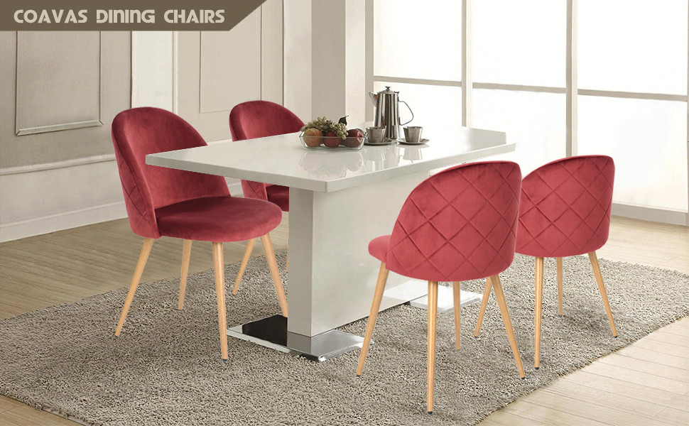 Quilted Velvet Dining Chairs