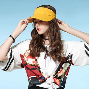 Fasbys - Cappello da sole per uomo, donna, visiera sportiva, fascia elastica per il sudore