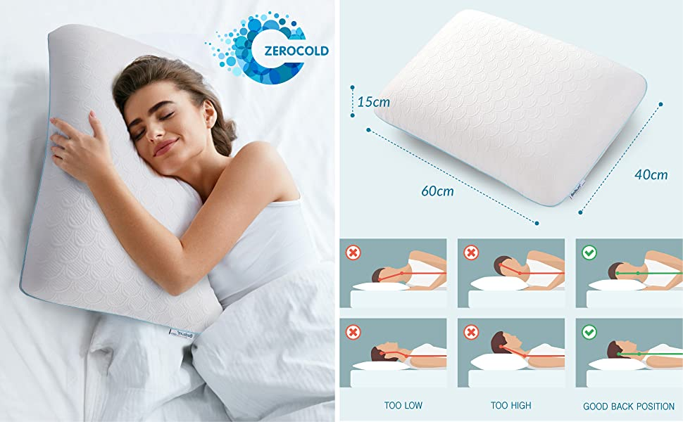 Bedsure Bio Zero Memory Foam Pillow