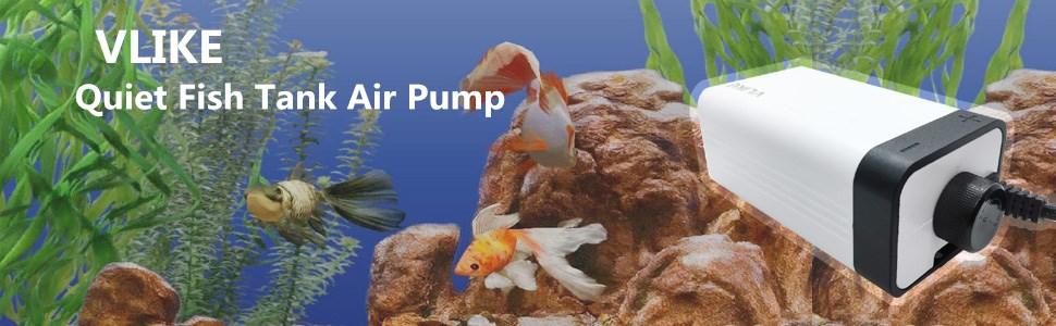 Return Valve 190 or 360L//H FREE Air Stone Hose Aquarium Fish Tank Air Pump