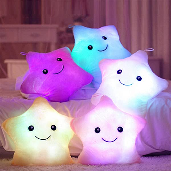 gaixample.org Kenmont Bright Light up Colorful Glowing LED Pillows ...