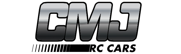 CMJ RC Cars logo in black and white