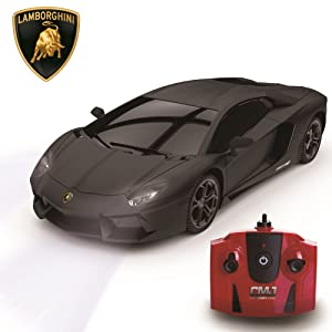 Black Lamborghini Remote control car with bright xenon lights, CMJ controller and Lamborghini logo