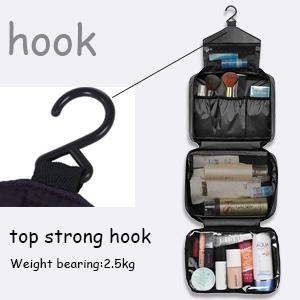 travel bag have a solid plastic hook