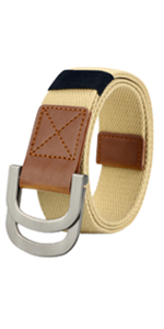 canvas solid buckle belt