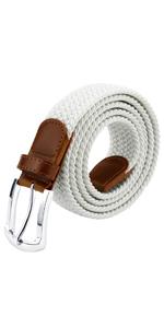womens belt white elastic belt