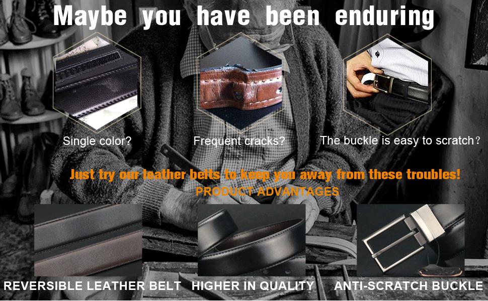 mens belt leather belt high quality buckle
