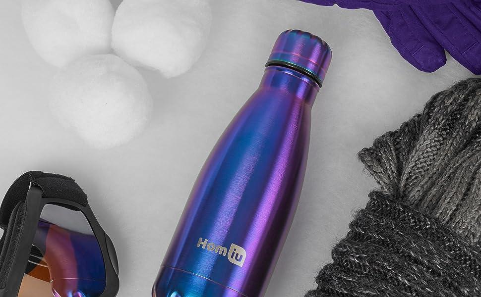 homiu water bottle vacuum sealed double walled stainless steel