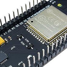 diymore ESP32 0 96 inch OLED Display WiFi Wireless Bluetooth 18650 Battery  Shield Development Board Module CP2102 for Arduino(Blue)