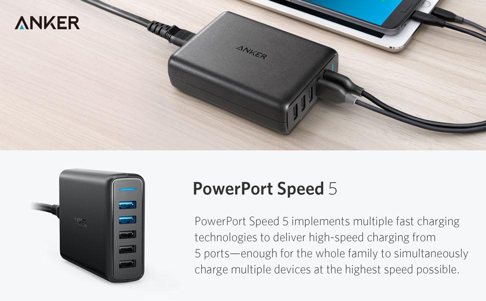 Anker PowerPort Speed 5 USB Rapid