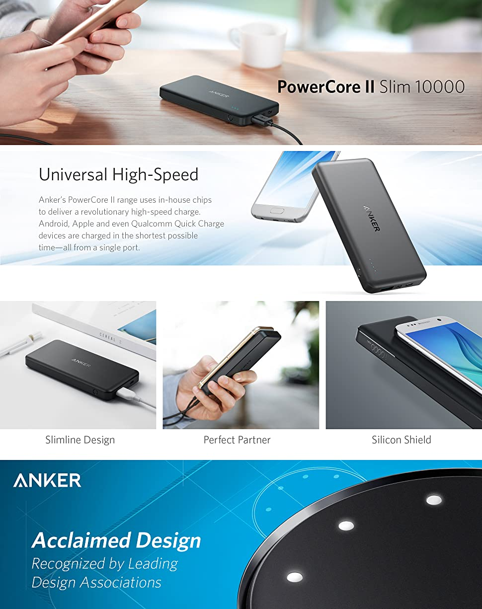 Anker Power Bank Powercore Ii Slim 10000 Ultra Portable Australia Silicon Chip Online House Wiring Looking At Light Switches Product Description