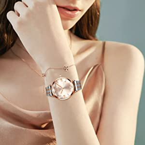 watches for women watches waterproof casual analog quartz women watch simple stainless steel watches