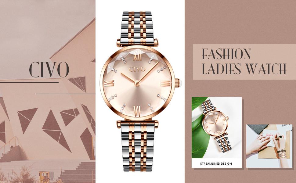 ladies watches women dress watch rose gold watch business fashion wrist watch