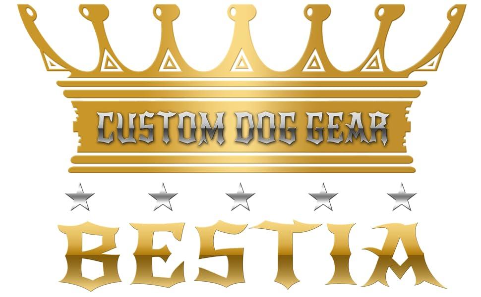 Collier pour chien avec logo Bestia