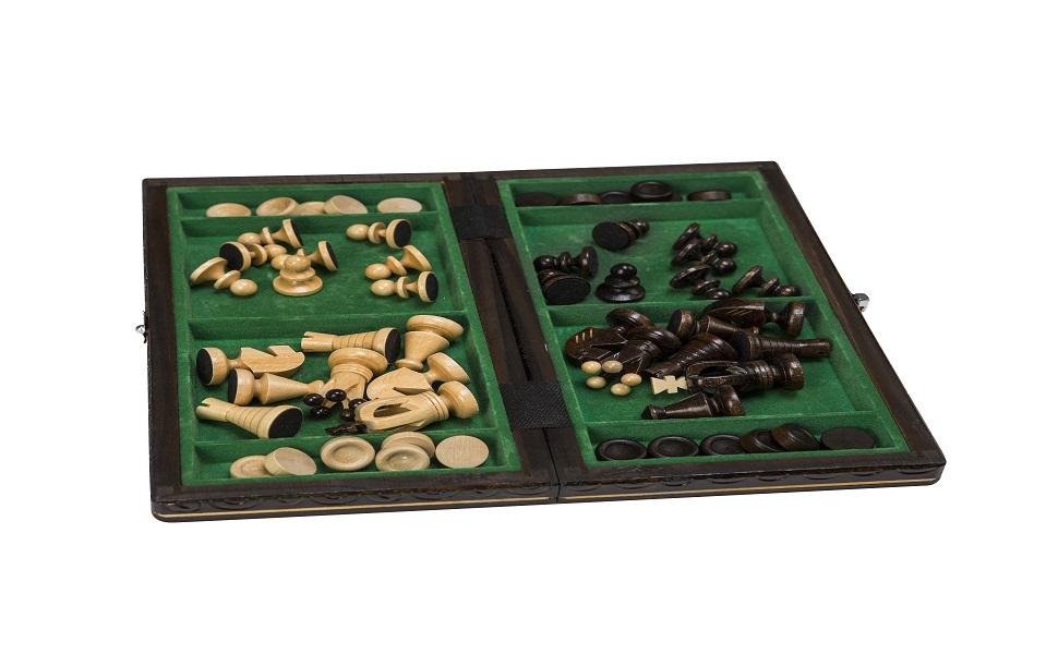 draughts and chess board set