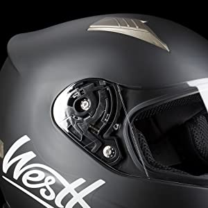 5208cf25 Westt® Storm · Full Face Motorbike Helmet in Matte Black · Crash ...