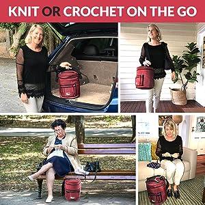 convenient durable yarn bag on the go